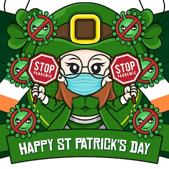 Happy st patricks day social media poster met kaboutermeisje