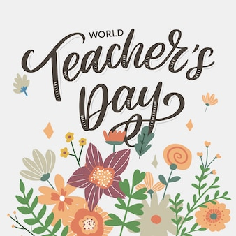 Happy teacher's day inscriptie.