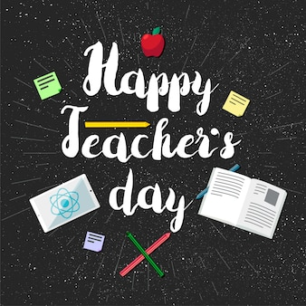 Happy teachers day celebration banner