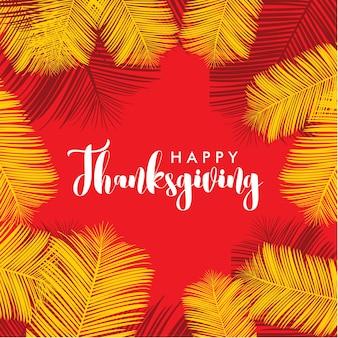 Happy thanks giving logo