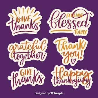 Happy thanksgiving badges collectie