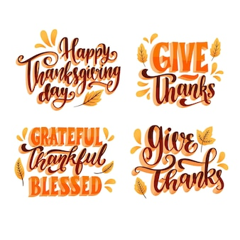 Happy thanksgiving belettering collectie