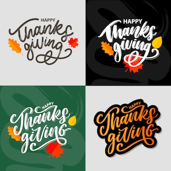 Happy thanksgiving belettering kalligrafie