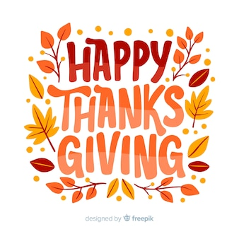 Happy thanksgiving belettering ontwerp