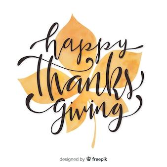 Happy thanksgiving belettering