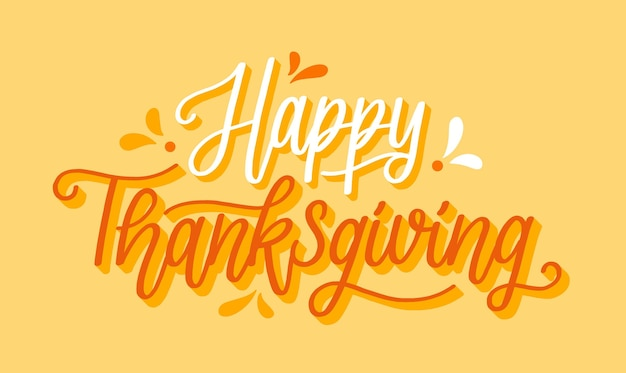 Happy thanksgiving belettering