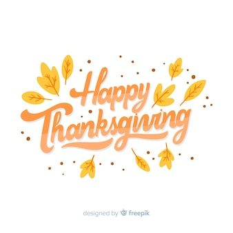 Happy thanksgiving concept met letters
