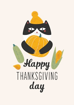 Happy thanksgiving day illustratie