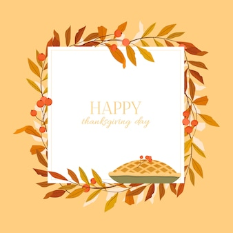Happy thanksgiving day illustratie.