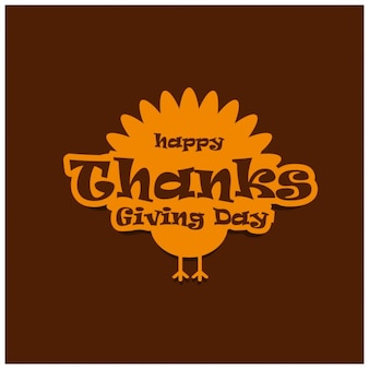 Happy thanksgiving day label design