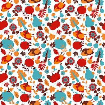 Happy thanksgiving day naadloze patroon.