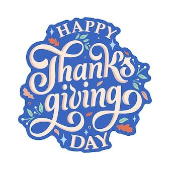 Happy thanksgiving day typografie