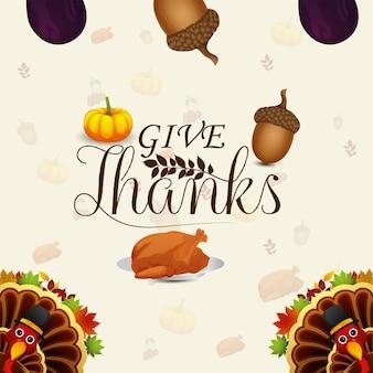 Happy thanksgiving day viering achtergrond