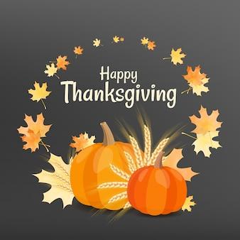 Happy thanksgiving day wenskaart