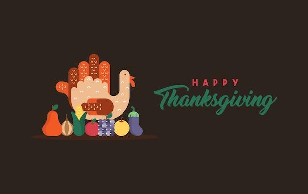 Happy thanksgiving illustratie