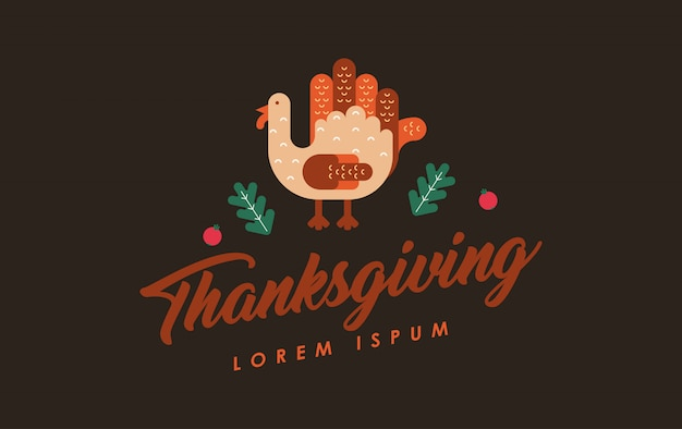 Happy thanksgiving illustratie