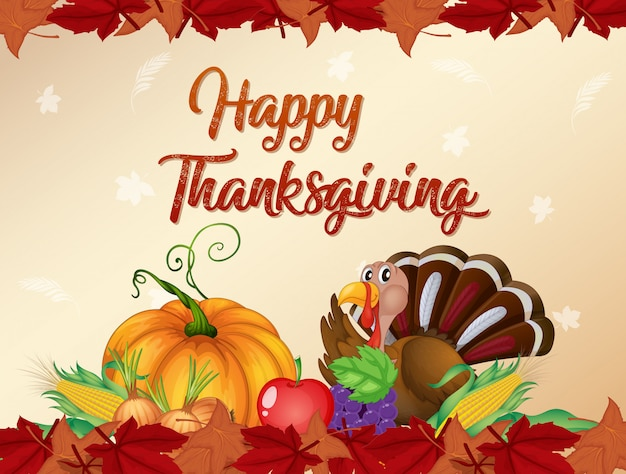 Happy thanksgiving kaartsjabloon