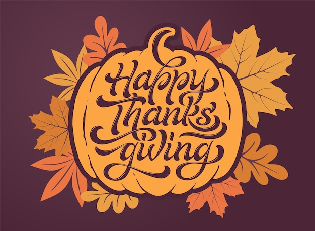 Happy thanksgiving mooie belettering