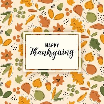 Happy thanksgiving naadloze patroon.