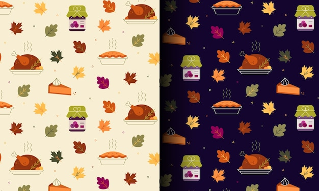 Happy thanksgiving naadloze patroon
