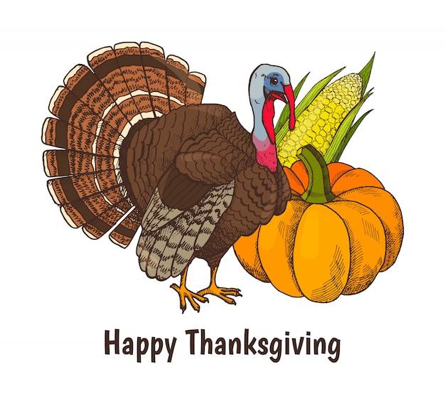 Happy thanksgiving poster turkije dier