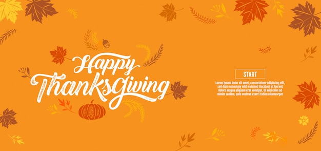 Happy thanksgiving, typografisch, kalligrafie, type,