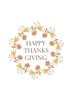Happy thanksgiving - wenskaart sjabloonontwerp. vector illustratie.