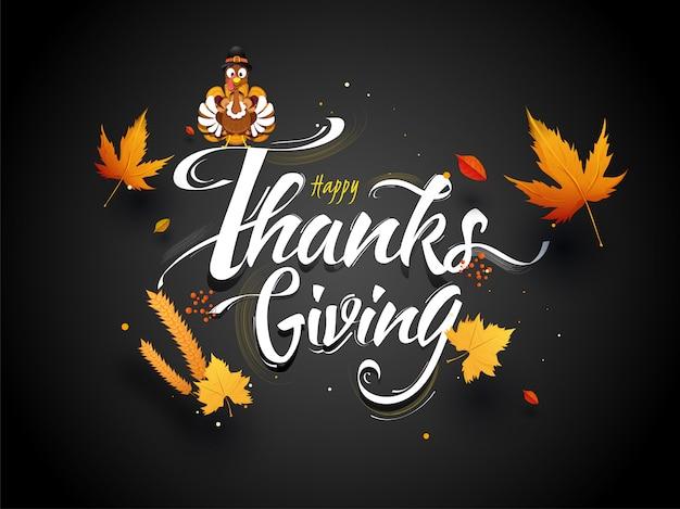 Happy thanksgiving-wenskaart.
