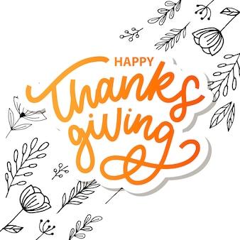 Happy thanksgiving wenskaart