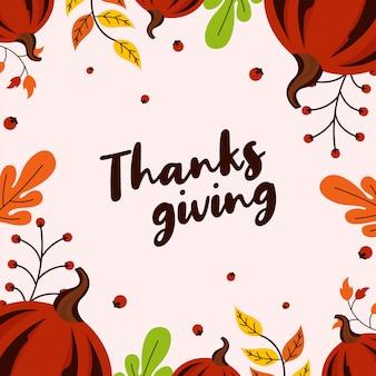 Happy thanksgiving-wenskaart