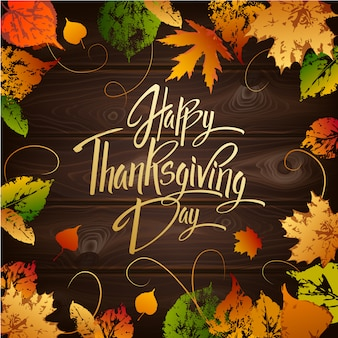 Happy thanskgiving day-wenskaart
