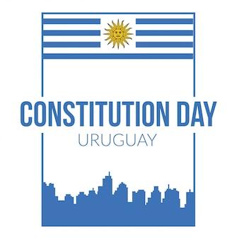 Happy uruguay constitution dag illustratie