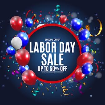 Happy usa dag van de arbeid verkoop poster achtergrond