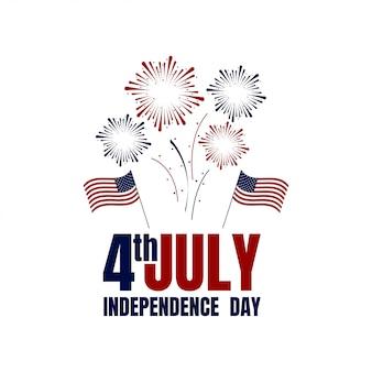 Happy usa independence day 4 juli. vlag