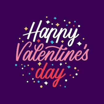 Happy valentiens dag belettering concept