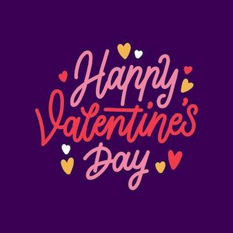 Happy valentiens dag belettering stijl