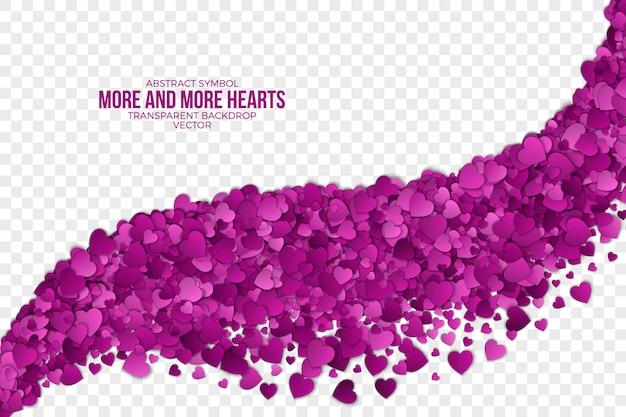 Happy valentijnsdag 3d harten abstracte achtergrond