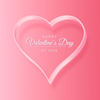 Happy valentijnsdag achtergrond met hart Gratis Vector