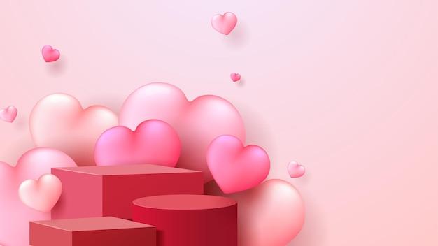 Happy valentijnsdag achtergrond met hartjes