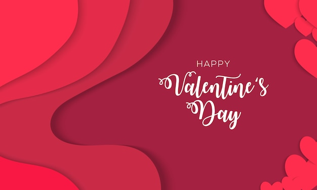 Happy valentijnsdag achtergrondontwerp