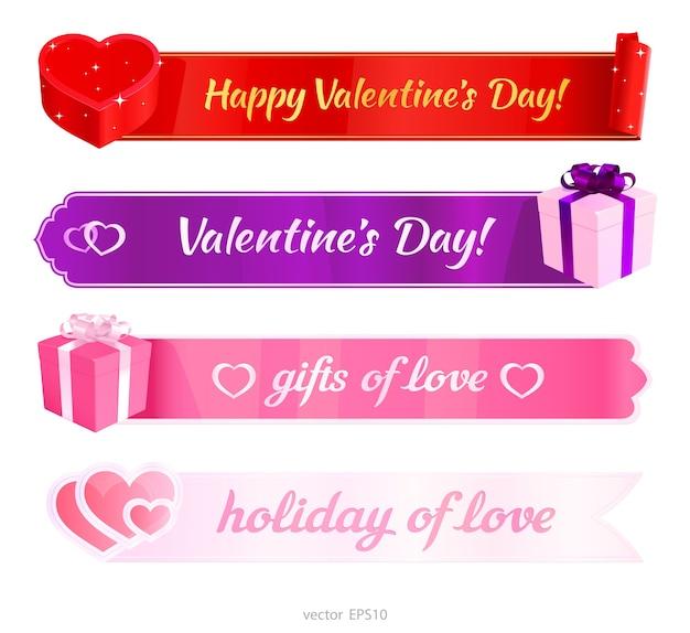 Happy valentijnsdag banners.