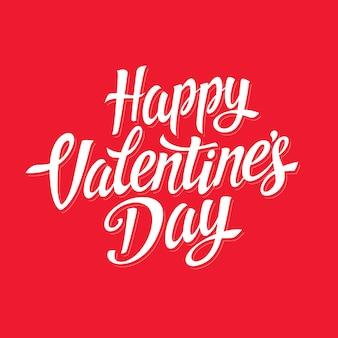 Happy valentijnsdag belettering bericht