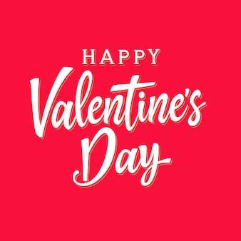 Happy valentijnsdag belettering concept