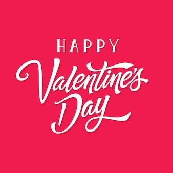 Happy valentijnsdag belettering