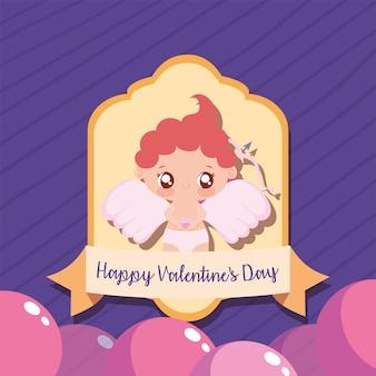 Happy valentijnsdag cupido cartoon
