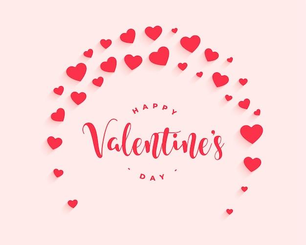 Happy valentijnsdag decoratieve harten achtergrondontwerp