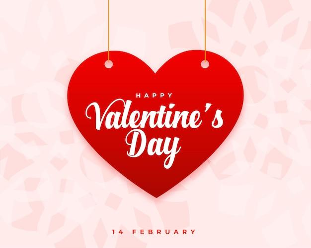 Happy valentijnsdag groet wensen kaart ontwerp
