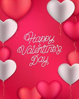 Happy valentijnsdag handgeschreven letters