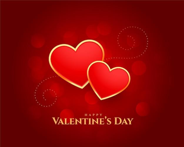 Happy valentijnsdag harten mooi kaart ontwerp