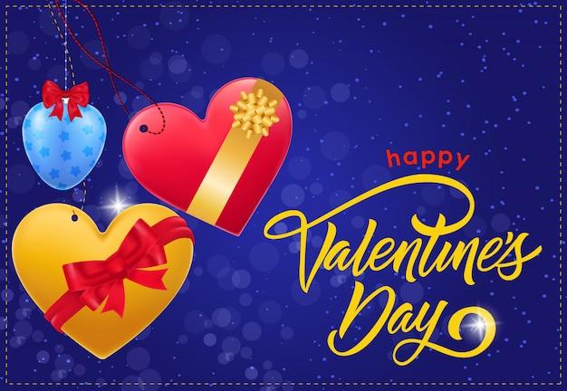 Happy valentijnsdag inscriptie en bogen